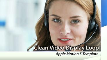 Clean Video Display - Apple Motion and Final Cut Pro X Template Apple Motion Template