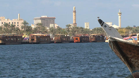 Harbor and Grand Mosque in Dubai Footage