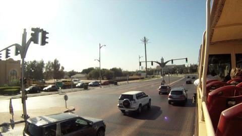 Bus tour Dubai time lapse Stock Video Footage