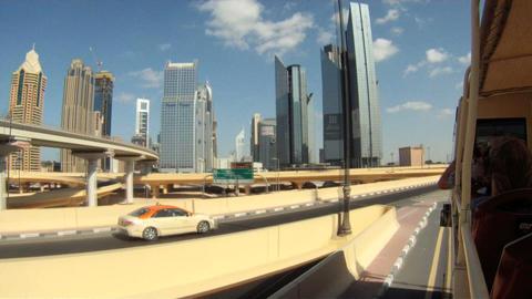 Dubai bustour time lapse Stock Video Footage