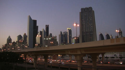 Dubai city traffic time lapse Footage
