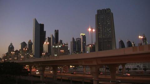 Dubai city traffic time lapse Stock Video Footage