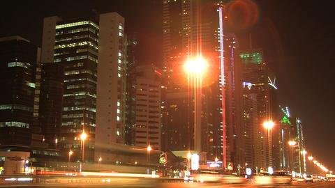 Dubai traffic time lapse Footage