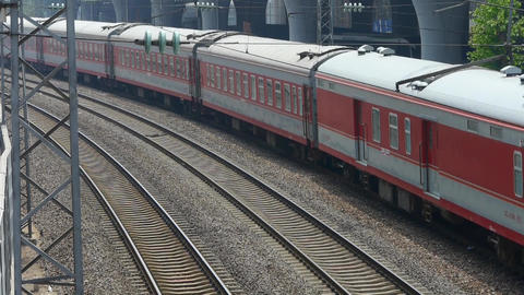 overlook train passing,intercity traffic in china Stock Video Footage