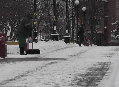 snow clean Stock Video Footage