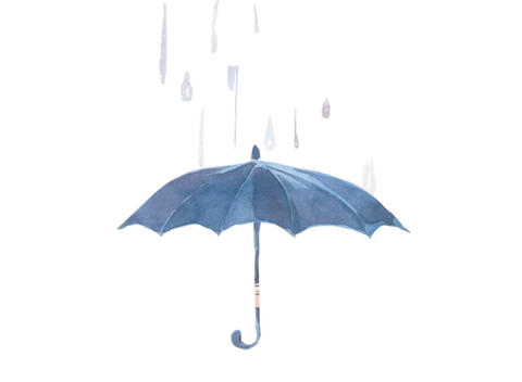 umbrella animation Stock Video Footage