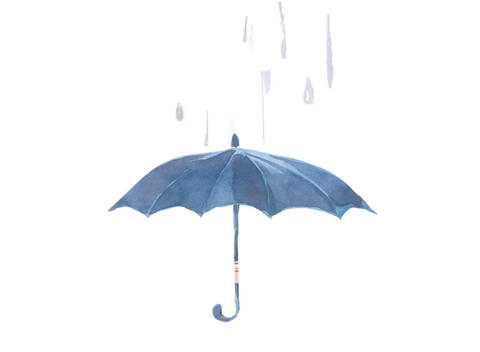 Umbrella Animation stock footage