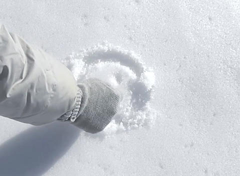 snow paint face Stock Video Footage