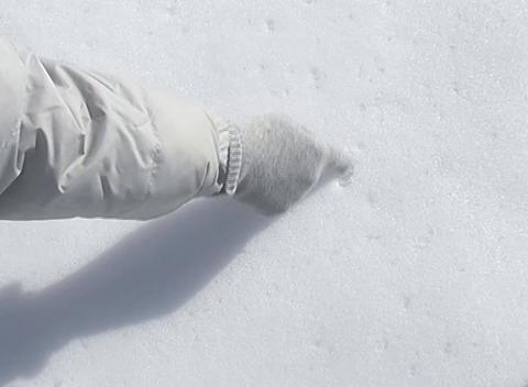 snow paint sun Stock Video Footage