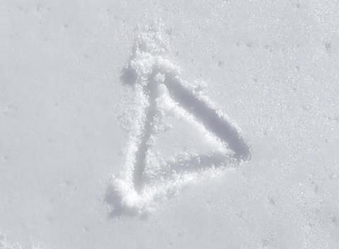 snow paint triangle Footage