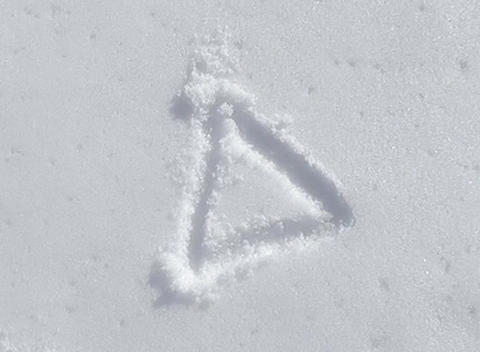 snow paint triangle Stock Video Footage