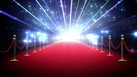 Magic red carpet loop Animation