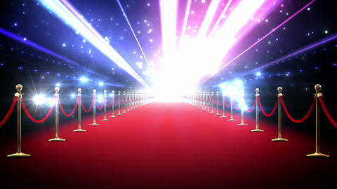 Magic red carpet loop Stock Video Footage