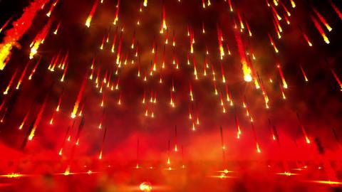Fire rain loop Stock Video Footage