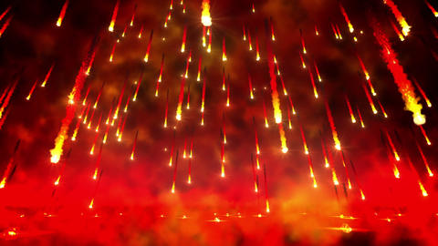Fire Rain Loop stock footage
