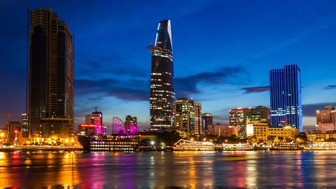 VIETNAM CITY SAIGON CITYSCAPE TIME LAPSE Footage