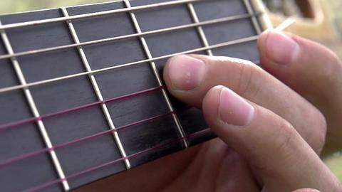 Guitar Fretboard Footage
