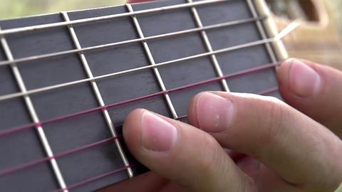 Guitar Fretboard Stock Video Footage