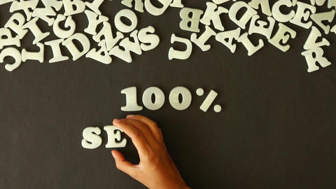 100 percent service Stock Video Footage