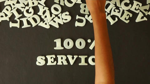 100 percent service Stock Video Footage