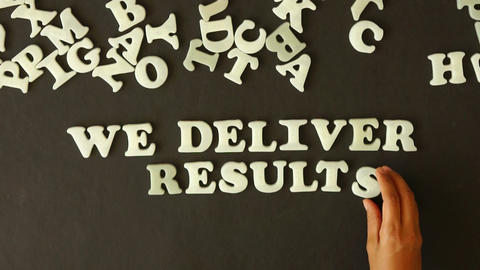 We deliver Results Stock Video Footage