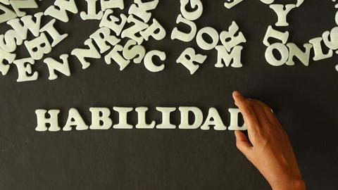 Skills (in spanish) Stock Video Footage