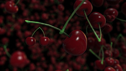 Loopable Alpha Background With Cherries stock footage