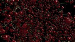 Loopable alpha background with cherries Stock Video Footage