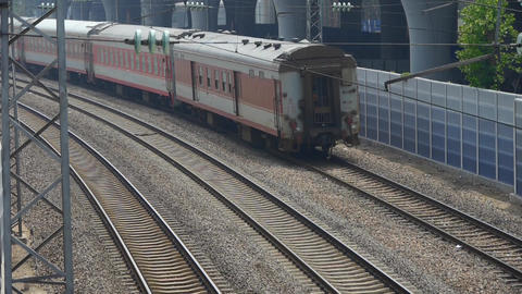 overlook train passing,intercity traffic in china Footage