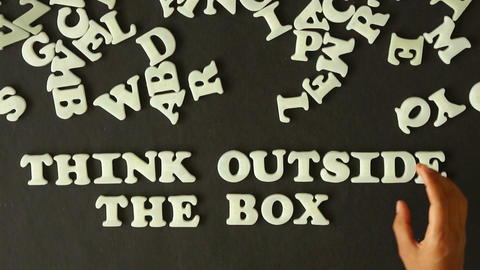 Think outside the box Stock Video Footage