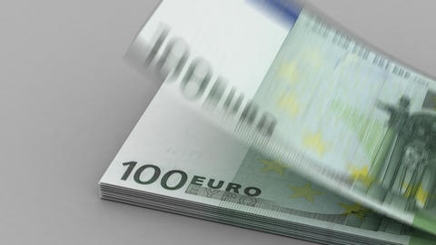 Counting Euro Stock Video Footage