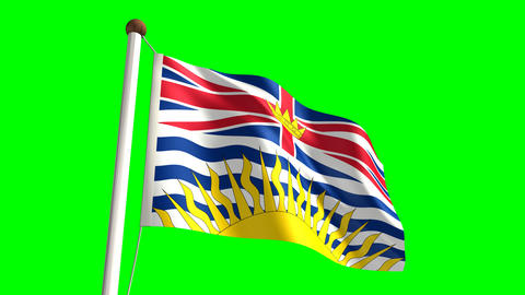 British Columbia flag Stock Video Footage