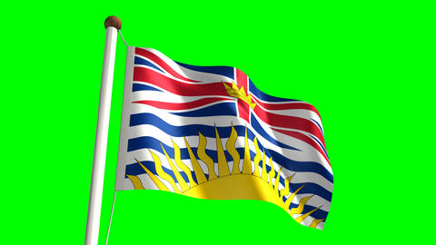 British Columbia flag Stock Video Footage