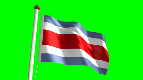 Costa Rica flag Stock Video Footage
