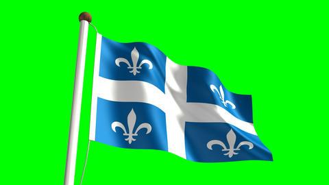 Quebec flag Animation