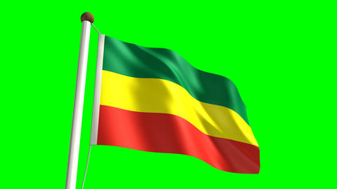 Ethiopia flag Stock Video Footage
