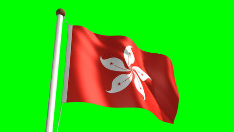 Hong Kong flag Stock Video Footage