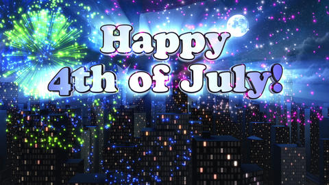 Happy 4th of July Title Animation, Stock Animation