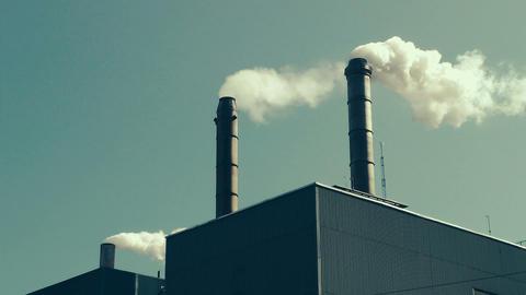 Factory Smokestacks Stock Video Footage