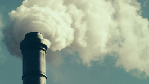 Factory Smokestack Footage