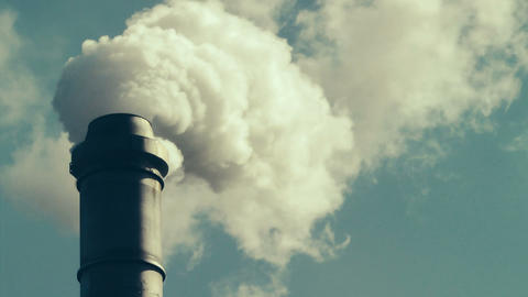 Factory Smokestack Stock Video Footage