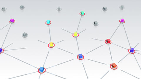 Social Network Connection E 1w 1 HD Stock Video Footage