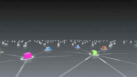 Social Network Connection E 2b 1 D 1 Wide Stock Video Footage
