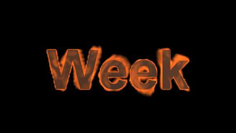 flame week word Stock Video Footage
