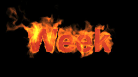 flame week word Stock Video Footage