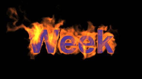flame week word Animation