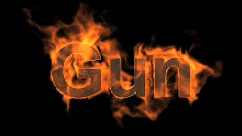 flame gun word,USA gun ban sign Stock Video Footage