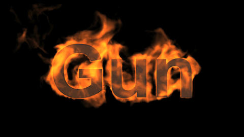 flame gun word,USA gun ban sign Animation