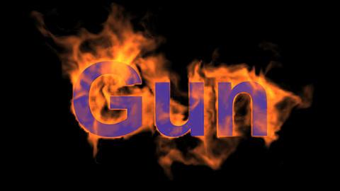 flame gun word,USA gun ban sign Stock Video Footage