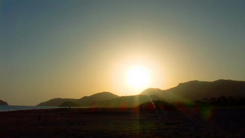 sunset over the mountain Stock Video Footage